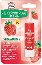 Profumi e cosmetici Balsamo labbra - Golden Rose Lip Balm Strawberry SPF15