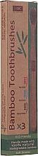 Profumi e cosmetici Set spazzolini da denti in bambù - Xoc Eco Friendly Soft Bristle Toothbrush (3 szt.)
