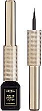 Profumi e cosmetici Eyeliner impermeabile - L'Oreal Paris Matte Signature Eyeliner