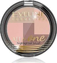 Profumi e cosmetici Blush - Eveline Cosmetics All In One Highlighter Blush