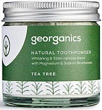 Profumi e cosmetici Polvere naturale sbiancante per i denti - Georganics Tea Tree Natural Toothpowder