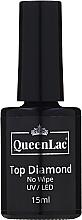 Profumi e cosmetici Top per smalto gel - QueenLac Top Diamond No Wipe UV/LED