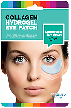 Profumi e cosmetici Patch maschera al collagene levigante contro le occhiaie e gonfiore - Beauty Face Collagen Hydrogel Eye Mask