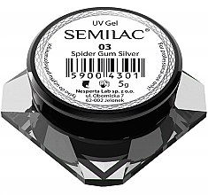 "Profumi e cosmetici Gel per nail design ""Spider gum silver"" - Semilac Spider Gum UV Gel"