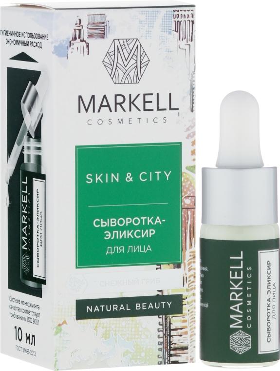 "Siero-elisir viso ""Fungo di neve"" - Markell Cosmetics Skin&City"