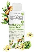 Profumi e cosmetici Olio di Argan per doppie punte con estratto di foglie di amamelide - MaterNatura