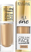 Profumi e cosmetici Illuminante cremoso - Eveline Cosmetics All In One Cream Face Illuminator