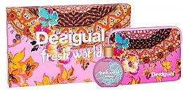 Profumi e cosmetici Desigual Fresh World - Set (edt/100ml + pouch)