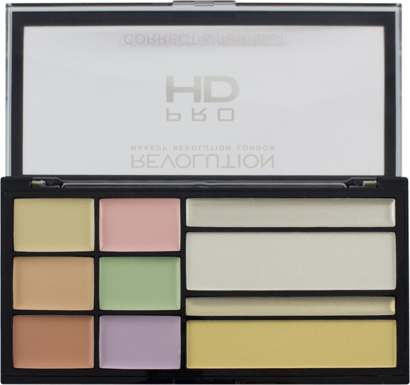 Palette correttori viso - Makeup Revolution HD Correct and Perfect Palette