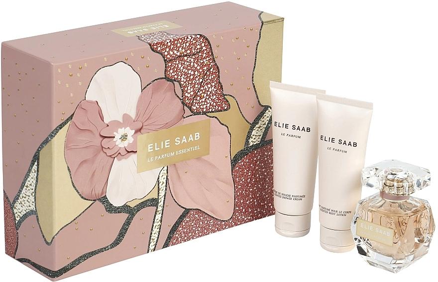 Elie Saab Le Parfum Essentiel - Set (edp/50ml + b/lot/75ml + sh/gel/75ml) — foto N1