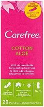 Profumi e cosmetici Assorbente giornaliere igieniche con estratto di aloe, 20 pz - Carefree Cotton Aloe