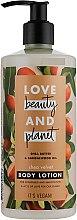 Profumi e cosmetici Lozione corpo al burro di karitè - Love Beauty&Planet Shea Butter & Sandalwood Oil Lotion