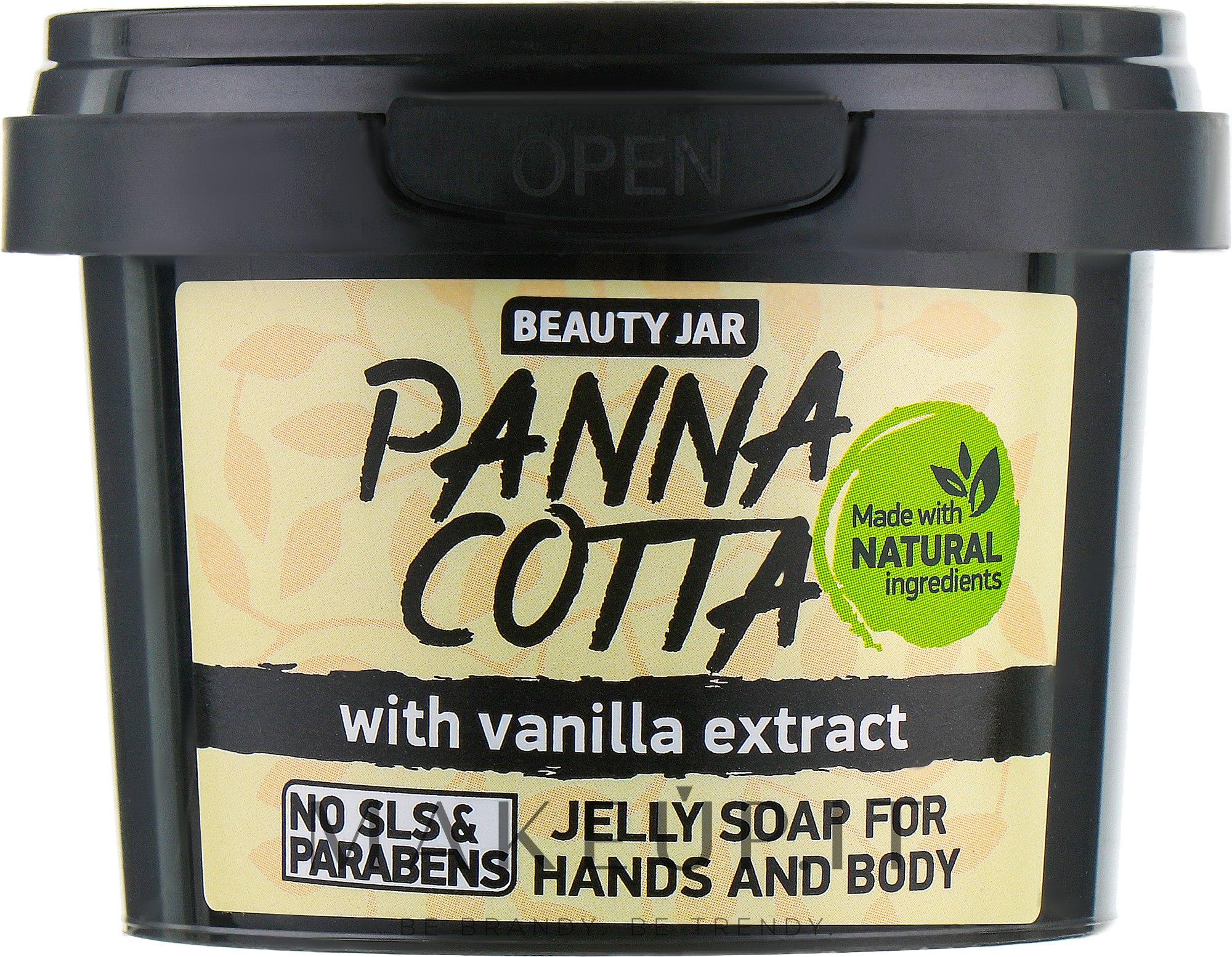 """Sapone con estratto di vaniglia per mani e corpo """"Panna Cotta"""" - Beauty Jar Jelly Soap For Hands And Body — foto 130 g"""