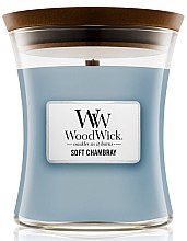 Profumi e cosmetici Candela profumata in vetro - WoodWick Hourglass Candle Soft Chambray