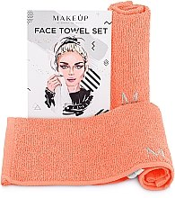 "Profumi e cosmetici Set asciugamani da viaggio, color pesca ""MakeTravel"" - Makeup Face Towel Set"