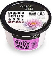 """Profumi e cosmetici Crema corpo """"Loto indiano"""" - Organic Shop Body Cream Organic Lotus & Oils"""