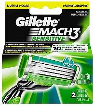 Profumi e cosmetici Lamette sostituibili, 2 pezzi - Gillette Mach3 Sensitive