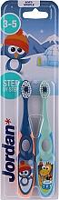 Profumi e cosmetici Spazzolino da denti per bambini, 3-5 anni blu + verde - Jordan Step By Step Soft Clean