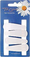 "Profumi e cosmetici Fermacapelli ""White Collection"", bianco, 4 pz - Top Choice"
