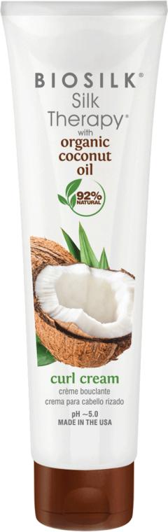Crema per lo styling dei capelli - BioSilk Silk Therapy Organic Coconut Oil Curl Cream