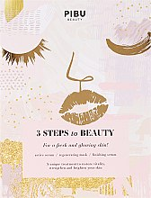 """Profumi e cosmetici Maschera """"3 passi per la bellezza"""" - Pibu Beauty 3 Steps To Beauty Mask"""