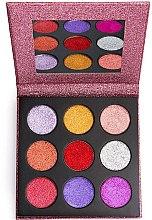 Profumi e cosmetici Palette ombretti - Makeup Revolution Pressed Glitter Palette Diva