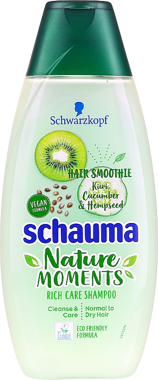 "Shampoo per capelli normali e leggermente secchi ""Kiwi e cetriolo"" - Schauma Hair Smoothie Shampoo"