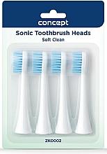 Profumi e cosmetici Testine di ricambio per spazzolini, ZK0002 - Concept Sonic Toothbrush Heads Soft Clean