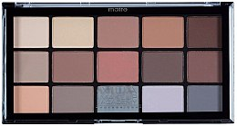 Profumi e cosmetici Palette ombretti - MUA Pro 15 Shade Eyeshadow Palette Matte