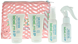 Profumi e cosmetici Set - Label.m Sun Edition Summer Mini Set (shm/60ml + mask/60ml + spray/60ml + oil/60ml + bag)