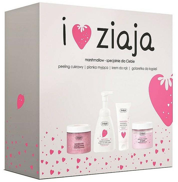 Set - Ziaja I Love Ziaja Marshmallow (b/peeling/300ml + h/cr/50ml + shower/gel/260ml + b/foam/250ml)