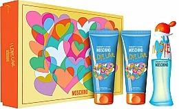 Profumi e cosmetici Moschino I Love Love - Set (edt/50ml + b/lot/100ml + sh/gel/100ml)