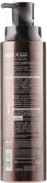 "Condizionante per capelli ""Rigenerazione intensiva"" - Dermo Pharma Argan Professional 4 Therapy Strengthening & Smoothing Conditioner — foto N2"