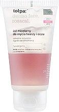 Profumi e cosmetici Gel micellare detergente viso con effetto lenitivo - Tolpa Dermo Face Rosacal Face Gel