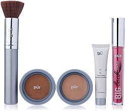 Profumi e cosmetici Set - Pur Minerals Best Sellers Starter Kit Golden Medium (primer/10ml+found/4.3g+bronzer/3.4g+mascara/5g+brush)