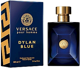 Profumi e cosmetici Versace Pour Homme Dylan Blue - Deodorante spray profumato