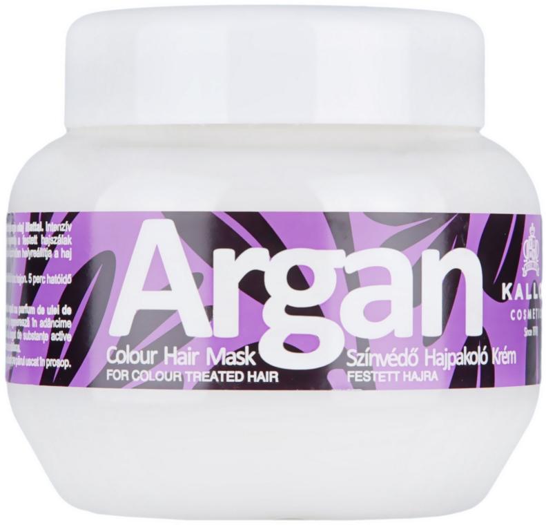 Maschera per capelli tinti all'olio di argan - Kallos Cosmetics Argan Color Hair Mask
