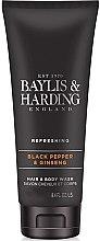 "Profumi e cosmetici Gel doccia e shampoo ""2 in 1"" - Baylis & Harding Black Pepper & Ginseng"