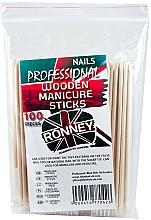 Profumi e cosmetici Bastoncini in legno per manicure, 15 cm - Ronney Professional