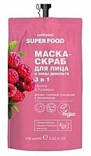 """Profumi e cosmetici Maschera-scrub viso e décolleté 3 in 1 """"Lampone e Rosmarino"""" - Cafe Mimi Super Food"""