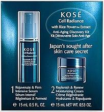 Profumi e cosmetici Set - KOSE Rice Power Extract Cell Radiance Anti-Aging Discovery Kit (cr/15ml+serum/15ml)
