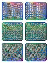 Profumi e cosmetici Adesivi per nail design, 3708 - Neess Patternness