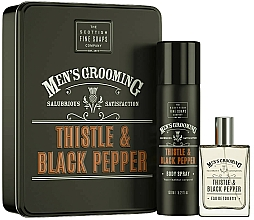 Profumi e cosmetici Scottish Fine Soaps Men's Grooming Thistle & Black Pepper - Set (edt/50ml + spray/150ml)