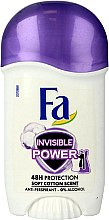 Profumi e cosmetici Deodorante stick - Fa Invisible Power Deodorant Stick