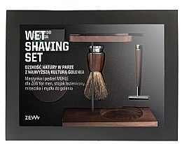 Profumi e cosmetici Set - Zew For Men Wet Shaving Set (soap/85ml + razor/1psc + sh/brush/1pcs + sh/cup/1pcs + sh/stand/1pcs)