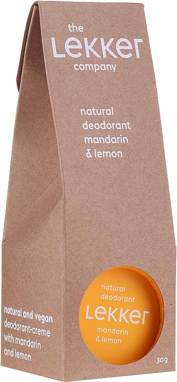 "Deodorante-crema ""Mandarino-limone"" - The Lekker Company Natural Deodorant Mandarin & Lemon"