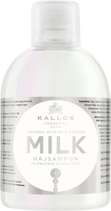 Shampoo nutriente al latte proteico per capelli secchi e danneggiati - Kallos Cosmetics Milk Protein Shampoo