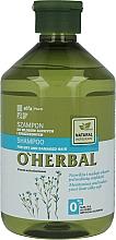 Profumi e cosmetici Shampoo per capelli secchi e opachi con estratto di lino - O'Herbal