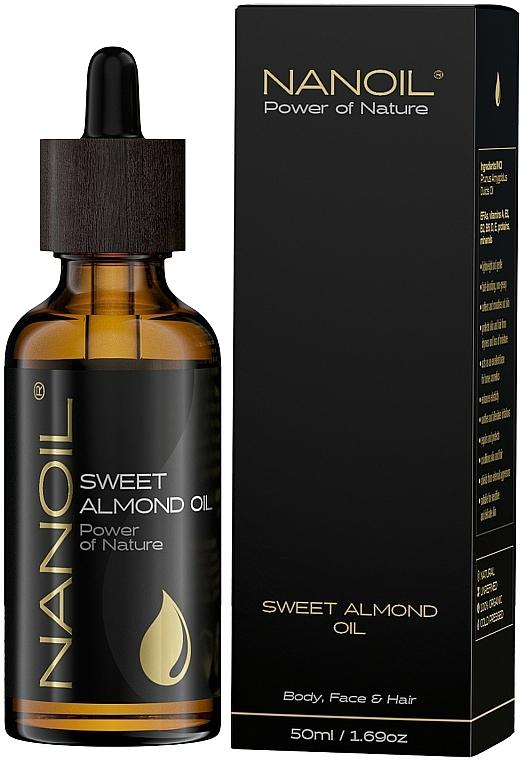 Olio di mandorle - Nanoil Body Face and Hair Sweet Almond Oil — foto N2