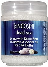 Profumi e cosmetici Sale morbido con minerali del Mar Morto e olio di cedro - BingoSpa Brine With Dead Sea Minerals For SPA Baths With Cedar And Baobab Seed Oil